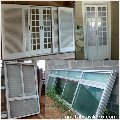 fotos de compra de portas e janelas usadas em santana de