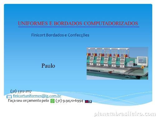 Bordados Computadorizados de qualidade em Belo Horizonte  telefone ... b71863344e0